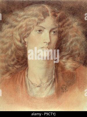 Rossetti  Dante Gabriel - Head of a Woman  Called Ruth Herbert - Stock Photo