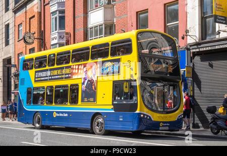 A Dublin Bus in the city centre, Dublin, Ireland, Europe