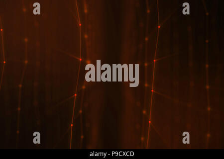 Abstract background of lines and dots, low poly mesh. Internet connections technology. Concept of neural connections transmitting signals between artificial neural connections. 3D illustration - Stock Photo