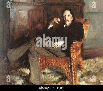 Sargent  John Singer - Robert Louis Stevenson - Stock Photo
