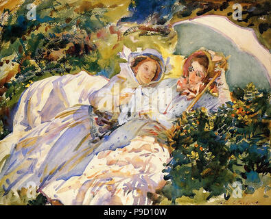 Sargent  John Singer - Simplon Pass - the Tease - Stock Photo