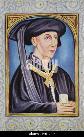 Philip the Good, Philippe le Bon, 31 July 1396 – 15 June 1467, was Duke of Burgundy as Philip III from 1419 until his death, digital improved reproduction of an original print from the year 1900 - Stock Photo