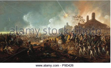 The Duke of Wellington at la Haye Sainte. The Battle of Waterloo. Museum: PRIVATE COLLECTION. - Stock Photo