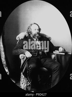 Russian revolutionary and theorist of anarchism Mikhail Bakunin (1814-1876). Museum: State History Museum, Moscow. - Stock Photo