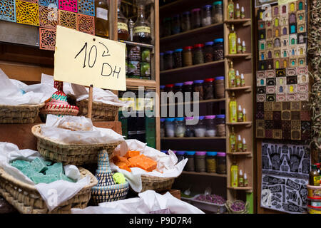 Morocco,Fes,Spices shop - Stock Photo