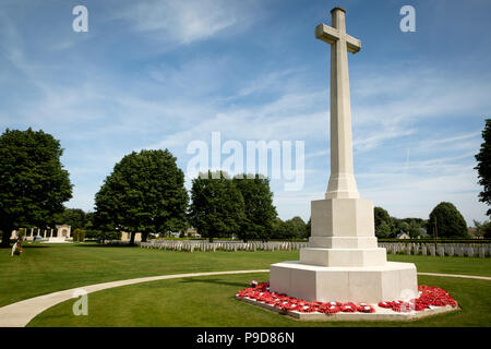 British military cemetery in Bayeux, France - Stock Photo