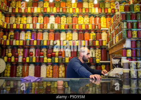 Morocco,Fes,Pickle shop - Stock Photo