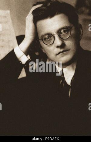 Portrait of the Composer Dmitri Shostakovich (1906-1975). Museum: State D. Shostakovich Memorial Museum, Moscow. - Stock Photo