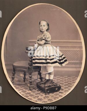 Portrait of Varvara Mikhaylovna Dostoevskaya (1854-1864). Museum: State Central Literary Museum, Moscow. - Stock Photo