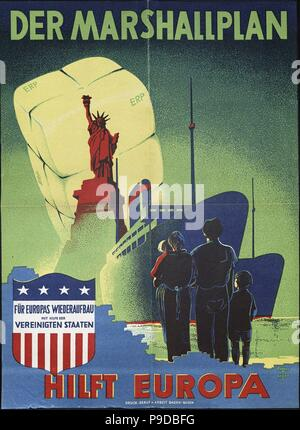The Marshall Plan helps Europe. Museum: PRIVATE COLLECTION. - Stock Photo