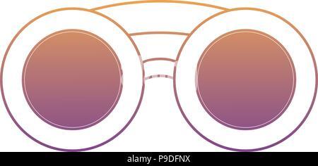 binoculars icon over white background, vector illustration - Stock Photo