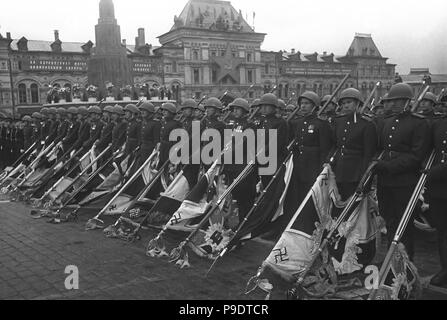The Moscow Victory Parade, June 24, 1945. Museum: Russian State Film and Photo Archive, Krasnogorsk. - Stock Photo