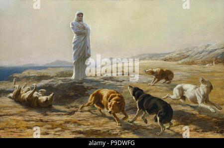Rivière  Briton - Pallas Athena and the Herdsman's Dogs - Stock Photo