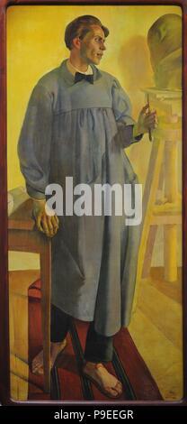 Rapolas Jakimavicius (1893-1961). Lithuanian artist. Portrait by Ludomir Slendzinski (1889-1980), 1922. National Gallery of Art. Vilnius, Lithuania. - Stock Photo