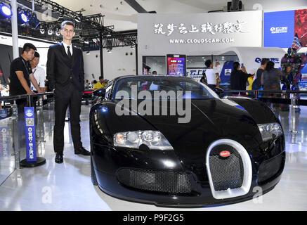Changchun, Changchun, China. 18th July, 2018. Changchun, CHINA-A Bugatti Veyron car can be seen at the 15th Changchun Auto Expo in Changchun, northeast China's Jilin Province. Credit: SIPA Asia/ZUMA Wire/Alamy Live News - Stock Photo