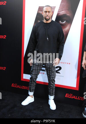 Los Angeles, California, USA. 17th July, 2018. Affion Crockett attends Columbia Picture's World Premiere of 'Equalizer 2' at TCL Chinese Theatre on July 17, 2018 in Hollywood, California. Photo by Barry King/Alamy Live News - Stock Photo