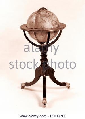 Terrestrial Globe, 1828, Made in Albany, New York, United States