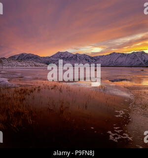 Sunset, Crowley Lake, Mount Morgan, Red Mountain, Inyo National Forest, Eastern Sierra, California