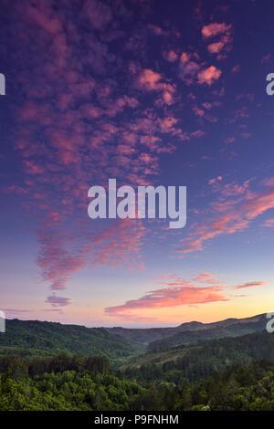 Sunset, Franks Valley, Mount Tamalpais State Park, Marin County, California - Stock Photo