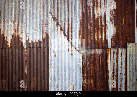 close up zinc rust wall texture background. - Stock Photo