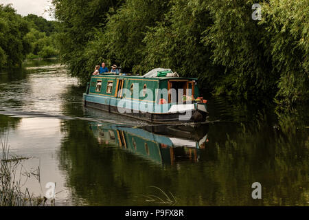 Canal boat on the river Avon at Stratford Upon Avon England. - Stock Photo