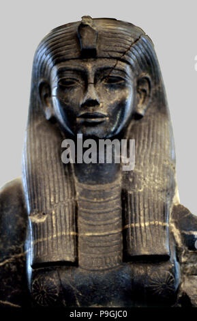 Statue of Queen Teie, consort of Amenhotep III. - Stock Photo
