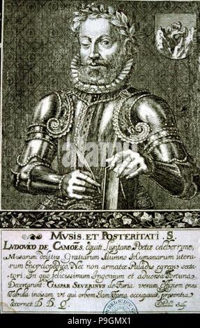 Luis Vaz de Camoes (1524-1580), Portuguese writer and poet. - Stock Photo