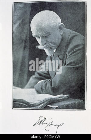 Joris-Karl Huysmans, (184 -1907), French novelist. - Stock Photo