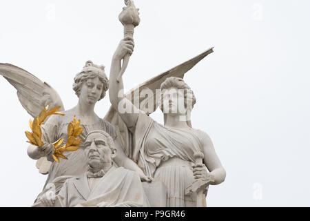 Monument to Benito Juarez - Neoclassical monument located at the Alameda Central park, in Mexico City, commemorating Mexican president Benito Juarez - Stock Photo