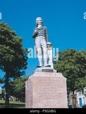 Edward Jenner (1749-1823), English scientist who discovered the smallpox vaccine. - Stock Photo