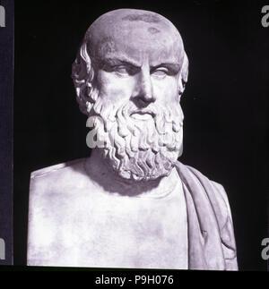 Aeschylus (525 a.C-456 to.BC), Greek poet. - Stock Photo