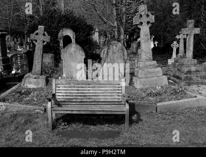 Highgate Cemetery, London, UK. - Stock Photo