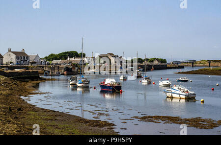 Boats moored in the harbour at Irvine on the West Coast of Scotland. - Stock Photo