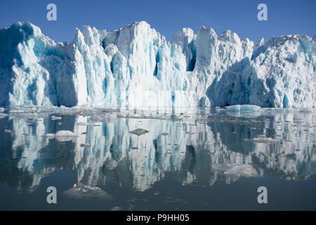Glacier and water reflection, Monacobreen Svalbard