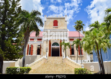 Saint Thomas, US Virgin Islands - April 01 2014: Frederick Evangelical Lutheran Church in Saint Thomas, US Virgin Islands - Stock Photo