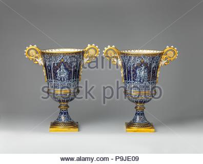 Vase Vase Gothique Fragonard One Of A Pair Factory Svres