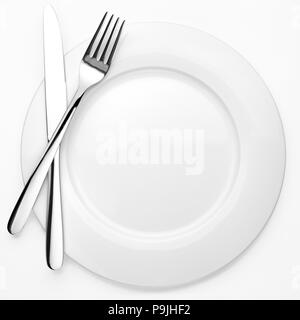 dining etiquette. Signs for the waiter, location of cutlery in different situations - Stock Photo