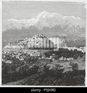 British-Afghan war, overview of Kabul in Afghanistan. - Stock Photo