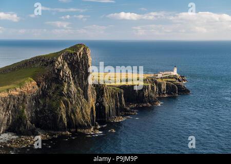 Neist Point, Lighthouse, Isle of Skye, Inner Hebrides, Scotland, United Kingdom - Stock Photo