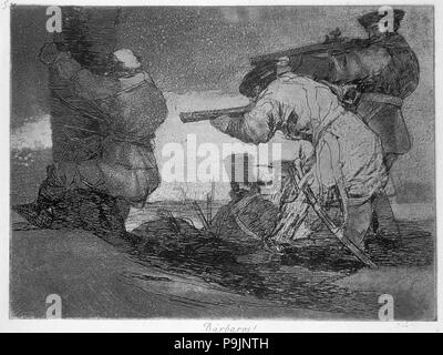 The Disasters of War, a series of etchings by Francisco de Goya (1746-1828), plate 38: 'Bárbaros!… - Stock Photo