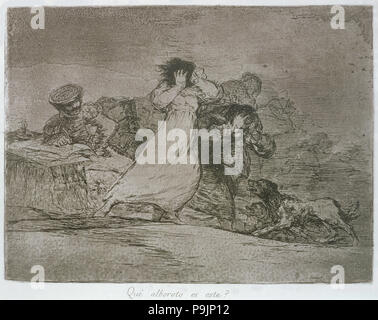 The Disasters of War, a series of etchings by Francisco de Goya (1746-1828), plate 65: 'Qué albor… - Stock Photo