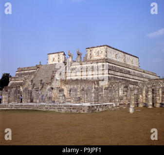 Temple of the Warriors in Chichen Itza. - Stock Photo