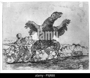 The Disasters of War, a series of etchings by Francisco de Goya (1746-1828), plate 76: 'El buitre… - Stock Photo