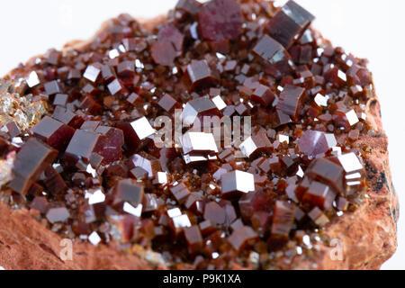 Cluster of vanadinite mineral - ore of a vanadium. - Stock Photo
