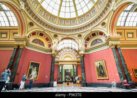 The National Gallery, London, UK - Stock Photo