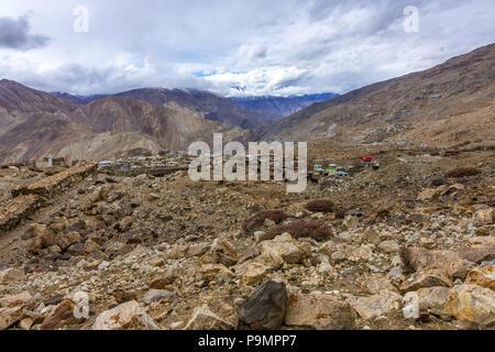 Nako Village, Kinnaur Valley, - Stock Photo