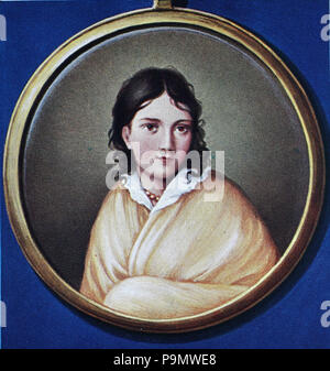 Bettina von Arnim, the Countess of Arnim, 4 April 1785 – 20 January 1859, born Elisabeth Catharina Ludovica Magdalena Brentano, was a German writer and novelist, digital improved reproduction of an original print from the year 1900 - Stock Photo