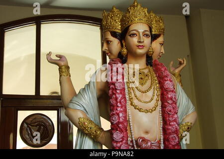 Statue of a Hare Krishna Goddess in Iskcon, New Delhi - Stock Photo
