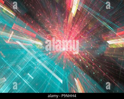 Abstract tech perspective - digitally generated image - Stock Photo
