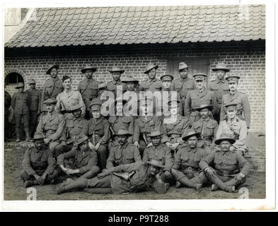 248 British and Indian officers 9th Gurkhas at their headquarters (Photo 24-59) - Stock Photo